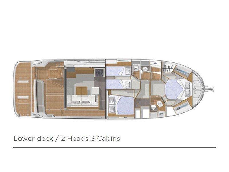 Beneteau S. Trawler 47 (Ocean dreamer (Joystick controller, Jet ski - option with extra charge)) Plan image - 9