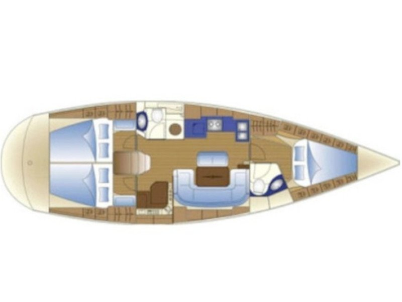 Bavaria 43 Cruiser (Kairos (Fully Refurbished 2019)) Plan image - 48