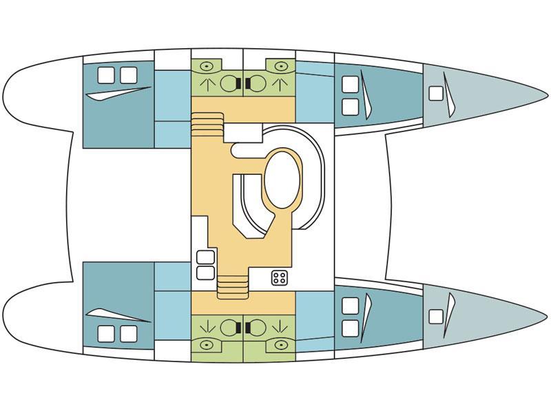 Lagoon 410 S2 (Sant Amanza) Plan image - 2