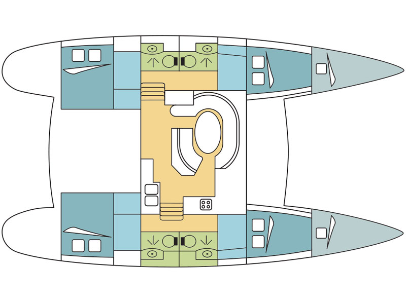 Lagoon 410 S2 (Scandola) Plan image - 1