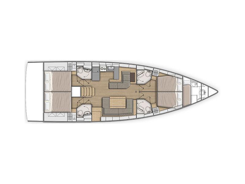Oceanis 51.1 (Enjoy) Plan image - 6