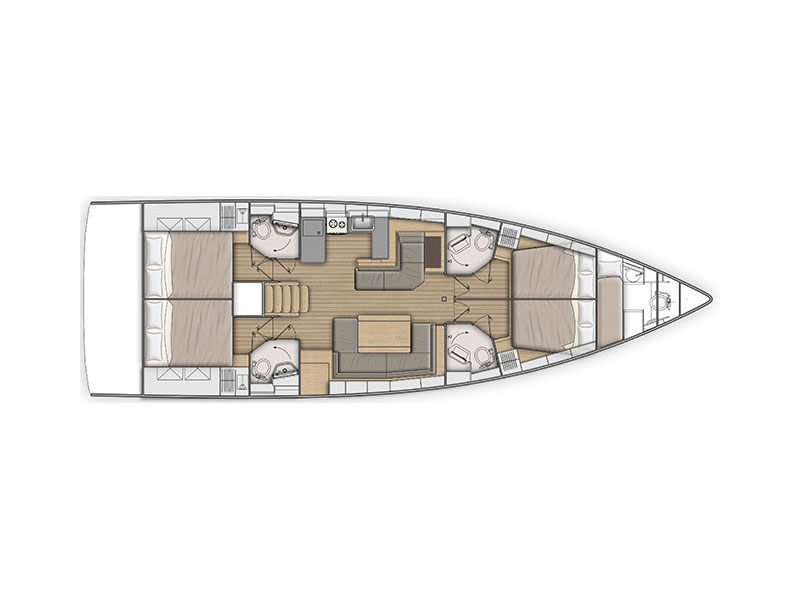 Oceanis 51.1 (5) (Miss Alice) Plan image - 3