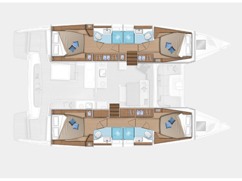 Lagoon 46 (Diamond Seas ) Plan image - 18