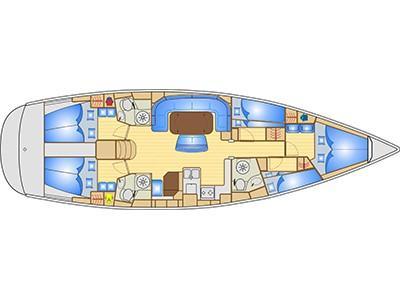Bavaria 50 Cruiser (Efkrasia) Plan image - 16