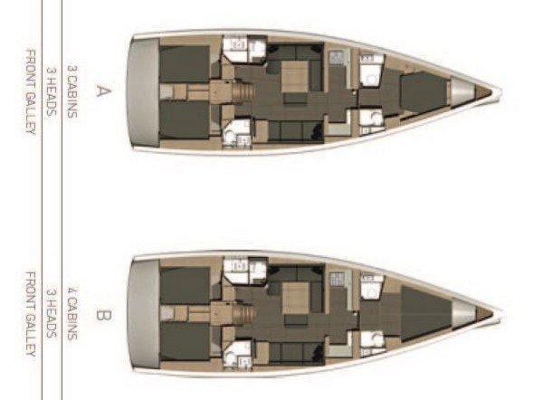 Dufour 512 GL (DON CARLOS) Plan image - 2