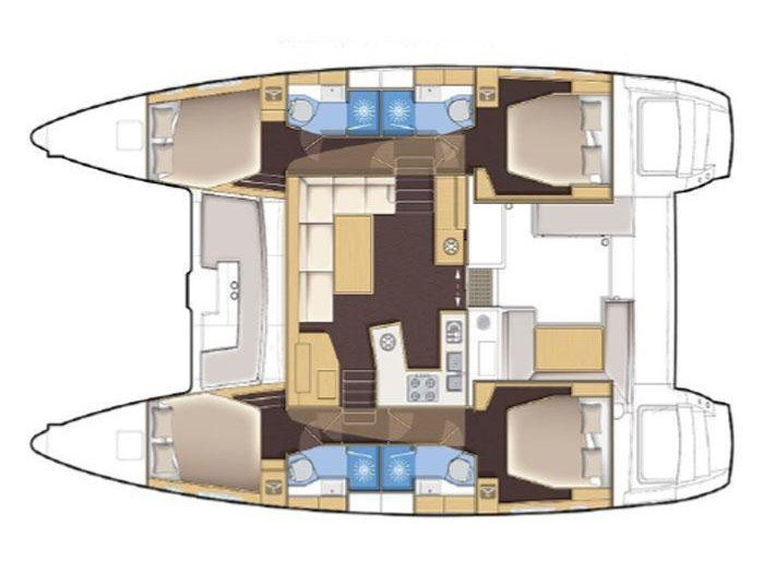 Lagoon 450 S (ADRIATIC QUEEN) Plan image - 3