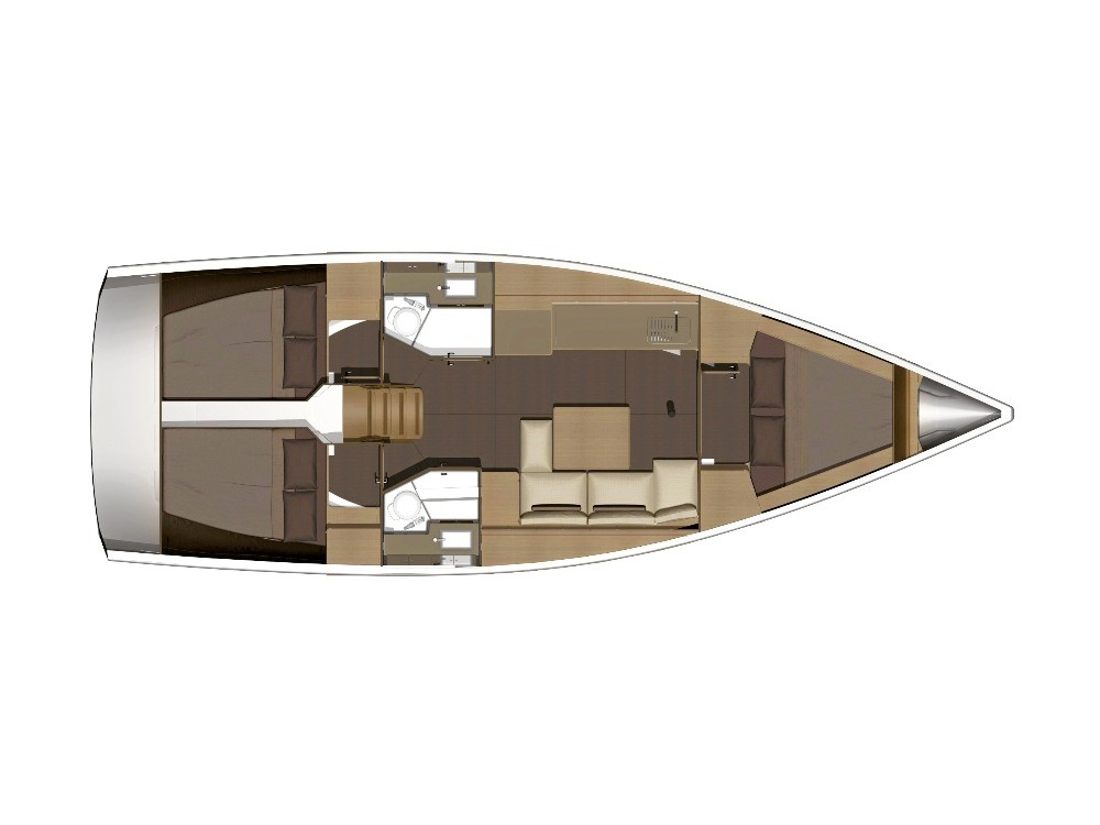 Dufour 382 Grand Large Notus 2016 (Notus) Plan image - 1