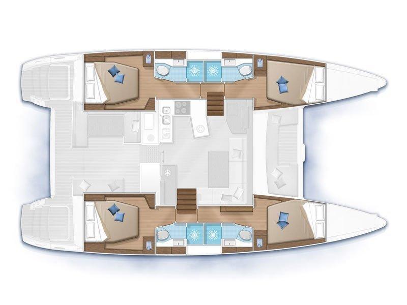 Lagoon 450  Flybridge (Albachiara) Plan image - 2