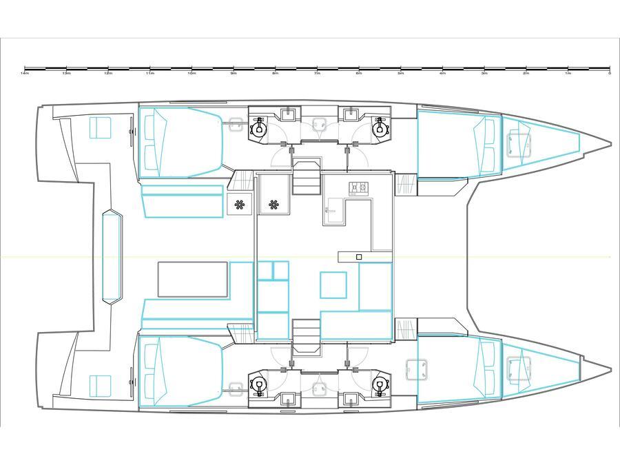 Nautitech 46 Fly (Athinais) Plan image - 1