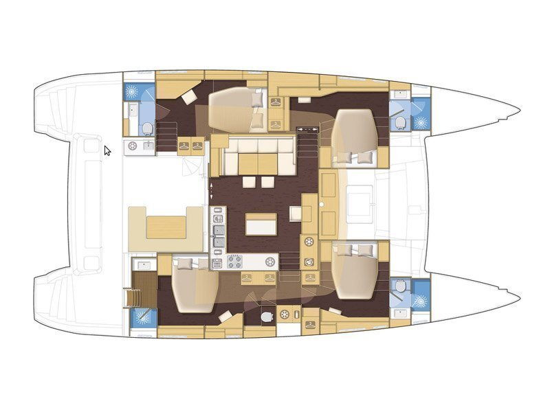 Lagoon 560 (Golden Pearl) Plan image - 3