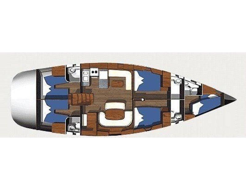 Ocean Star 56.1 - 5 cabins (Alexandria) Plan image - 2