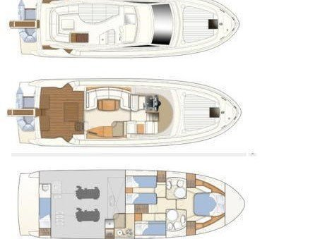 Ferretti 460 (Bluebell) Plan image - 18