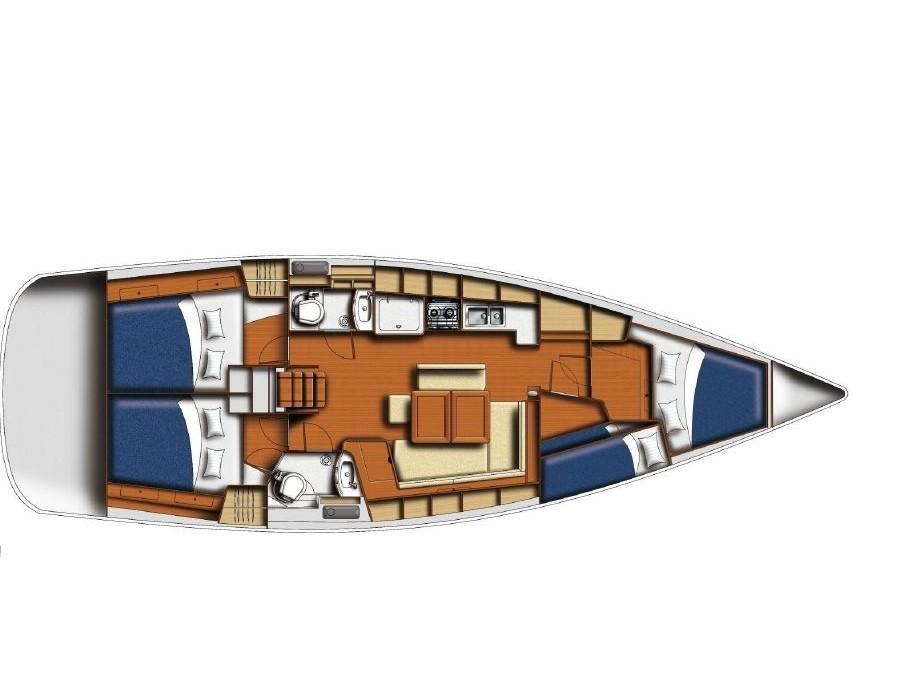 Oceanis 43 (Rainier III) Plan image - 3