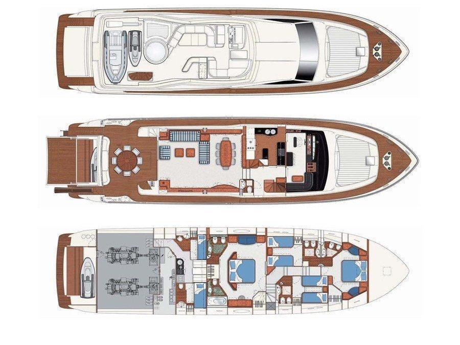 Ferretti 880 (Katariina) Plan image - 1