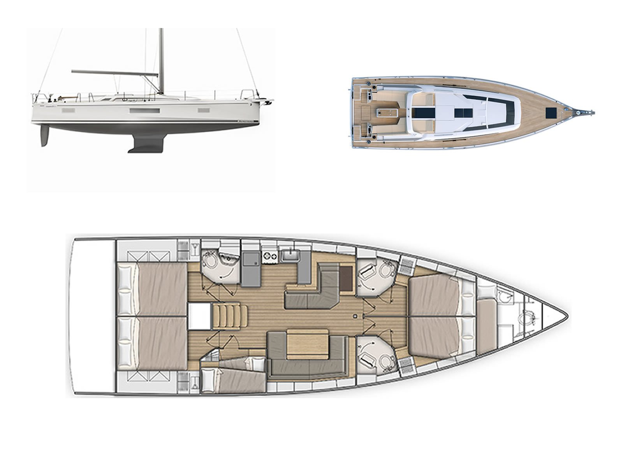 Oceanis 51.1 (Kallisto) Plan image - 1