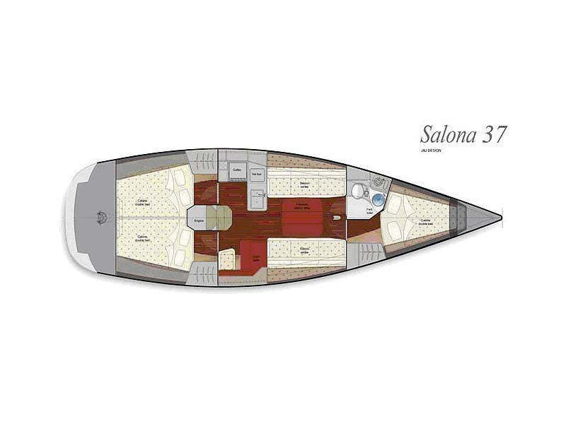 Salona 37 (Red Zeppelin) Plan image - 7
