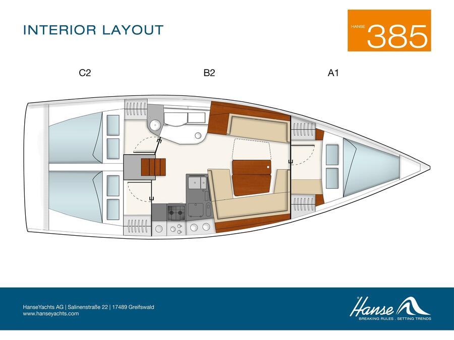 Hanse 385 (Zarja) Plan image - 2