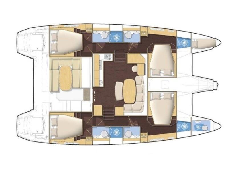 Lagoon 421 (Milly) Plan image - 2