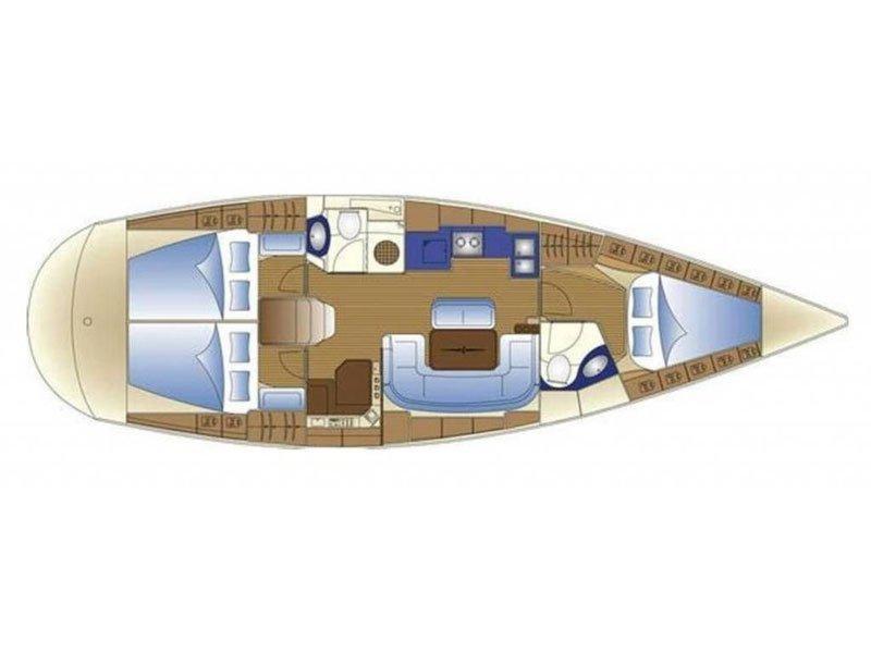 Bavaria 42 Cruiser (Sirene) Plan image - 2