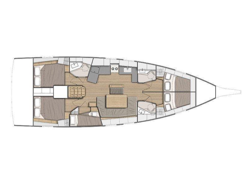 Oceanis 46.1 (Kismee (NEW 2019)) Plan image - 1
