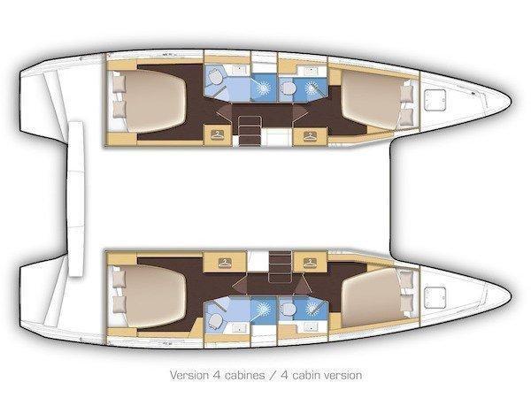 Lagoon 42 (Wind Desire) Plan image - 14