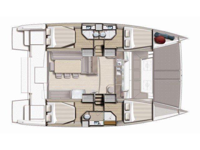 Bali 4.3 Bareboat AQUA (AQUA) Plan image - 2