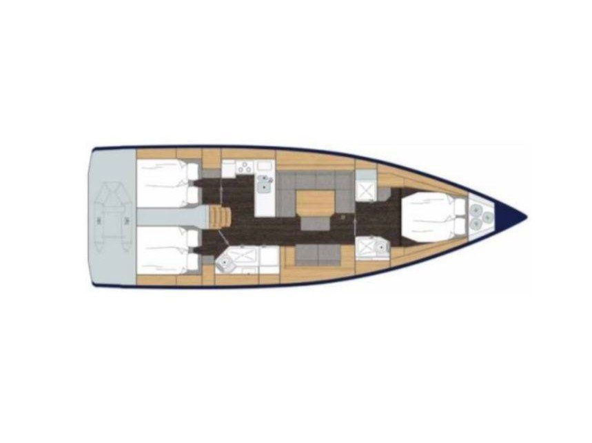 Bavaria Cruiser 45 (NN (with AC)) Plan image - 2