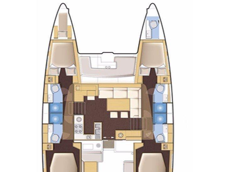 Lagoon 450F 10 pax (Amare I) Plan image - 1