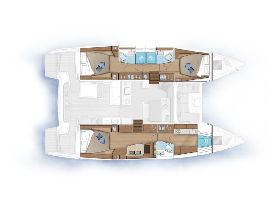 Lagoon 46  (Golden Promise ) Plan image - 1