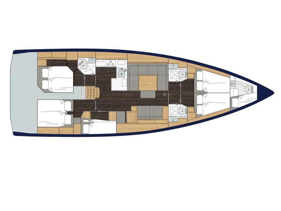 Bavaria C50 (LADY FLORA 3) Plan image - 1