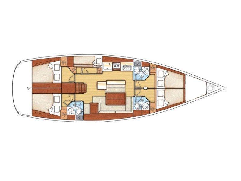 Oceanis 50 Family (EVITA I) Plan image - 2