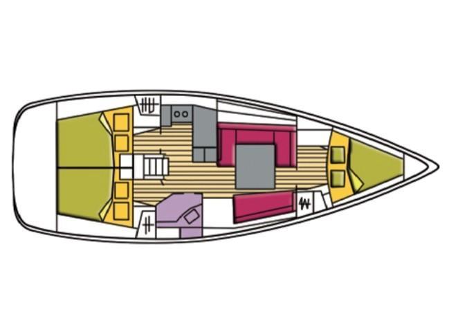 Oceanis 37 (Polaris (PMI)) Plan image - 2