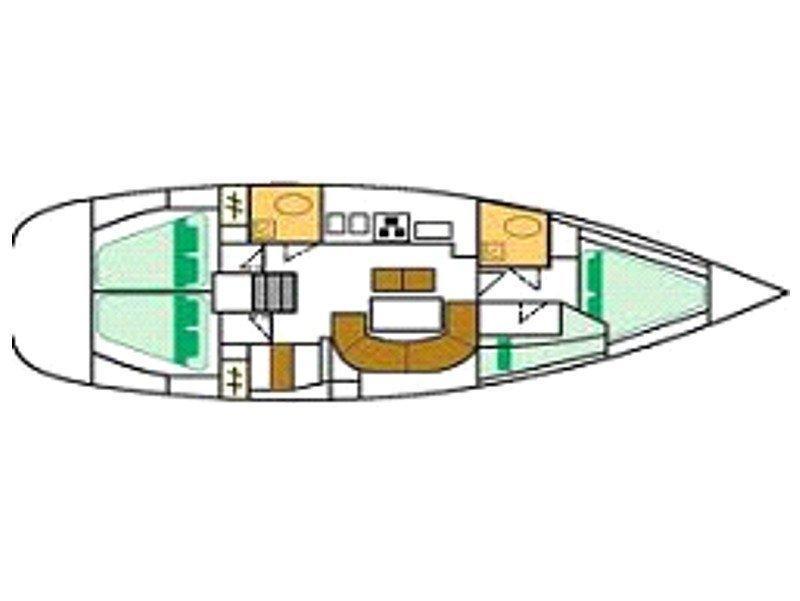 Oceanis 41.1 (Thetis) Plan image - 3