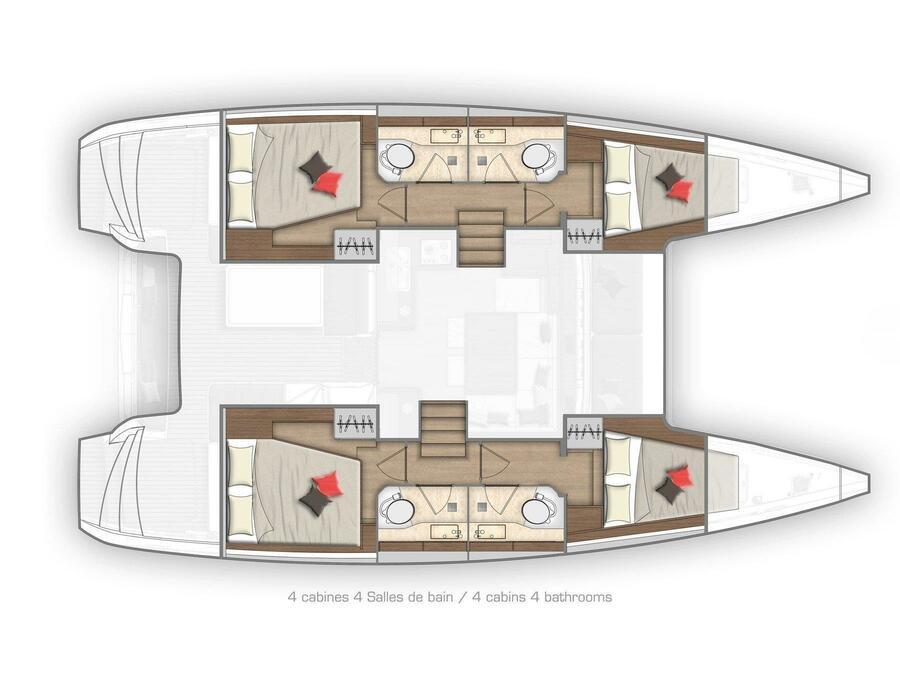 Lagoon 40 (LA LUNA) Plan image - 1