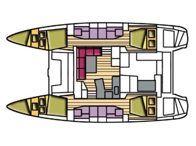 Lagoon 42 (Alpha Tauri) Plan image - 1