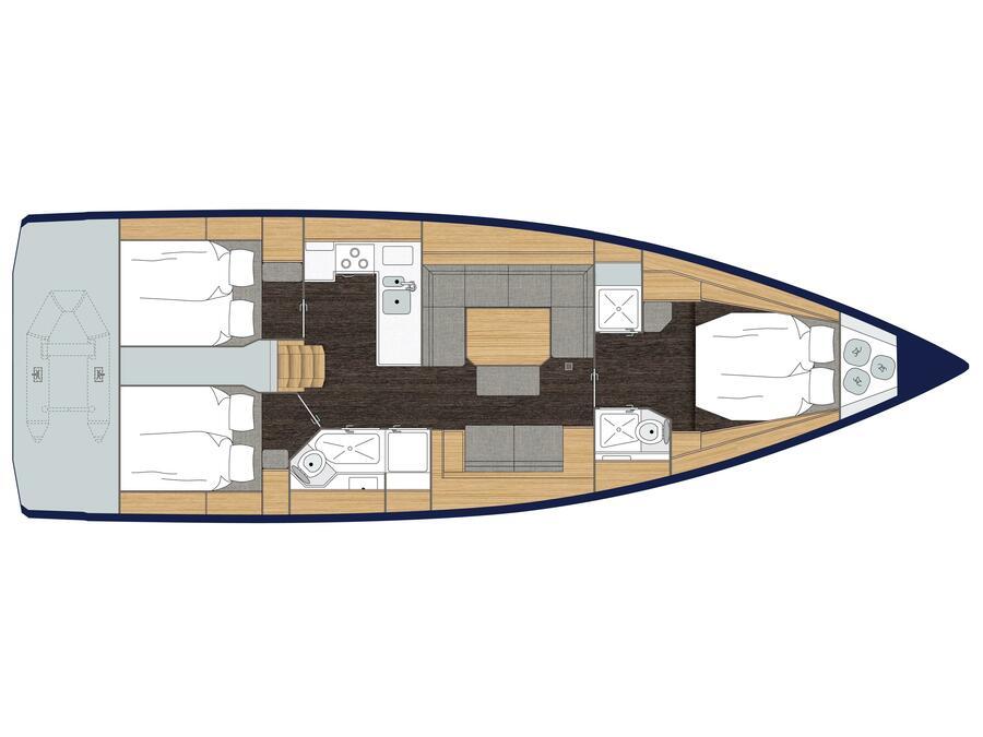 Bavaria C45 Style (Allegra) Plan image - 1