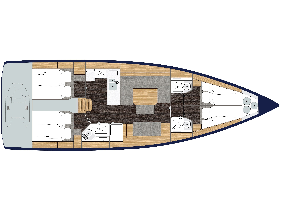 Bavaria C45 (Isokratis) Plan image - 1