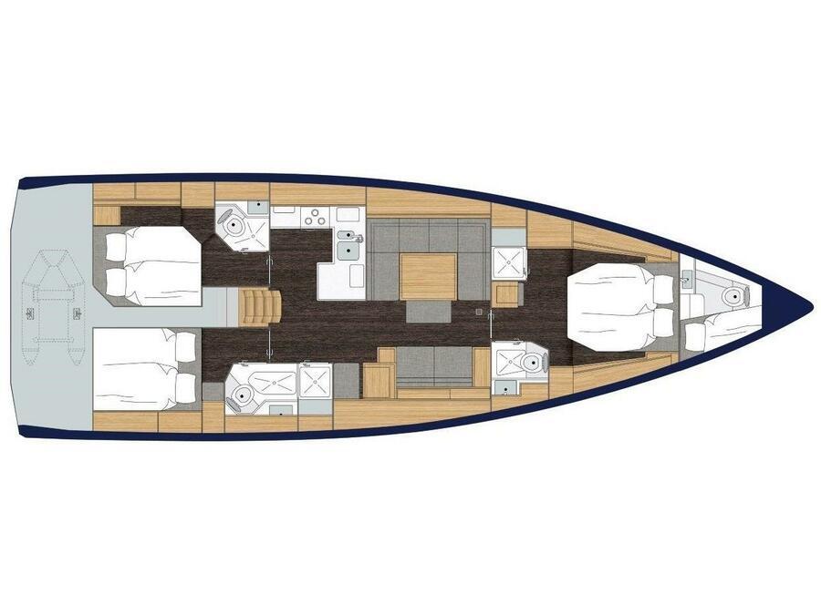 Bavaria C50 Style (Hainan) Plan image - 1