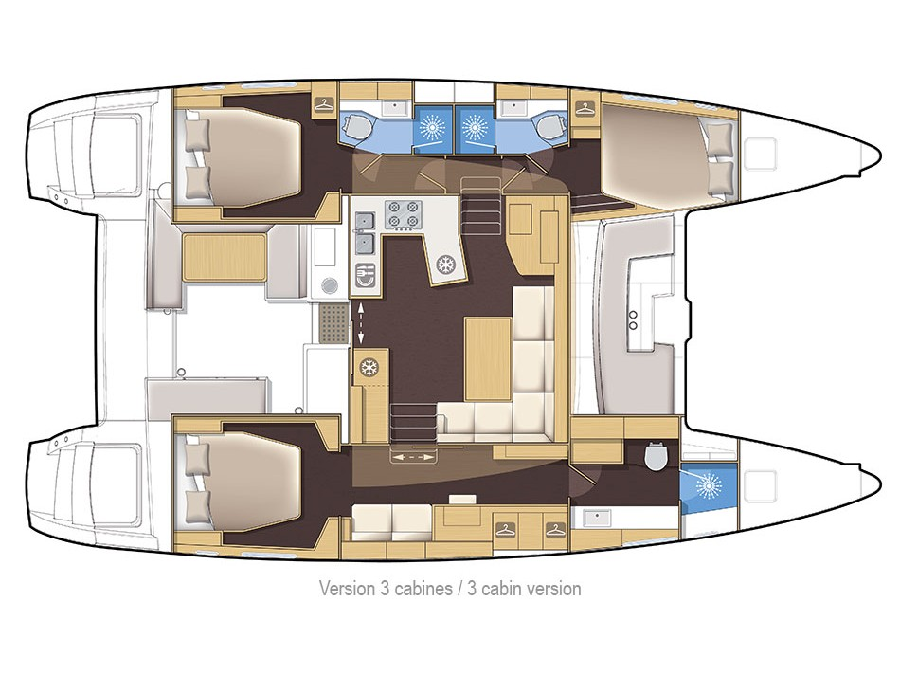 Lagoon 450 Sport (Ocean Dreams) Plan image - 15