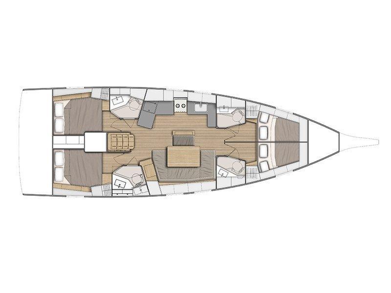 Oceanis 46.1 (Oceania) Plan image - 6