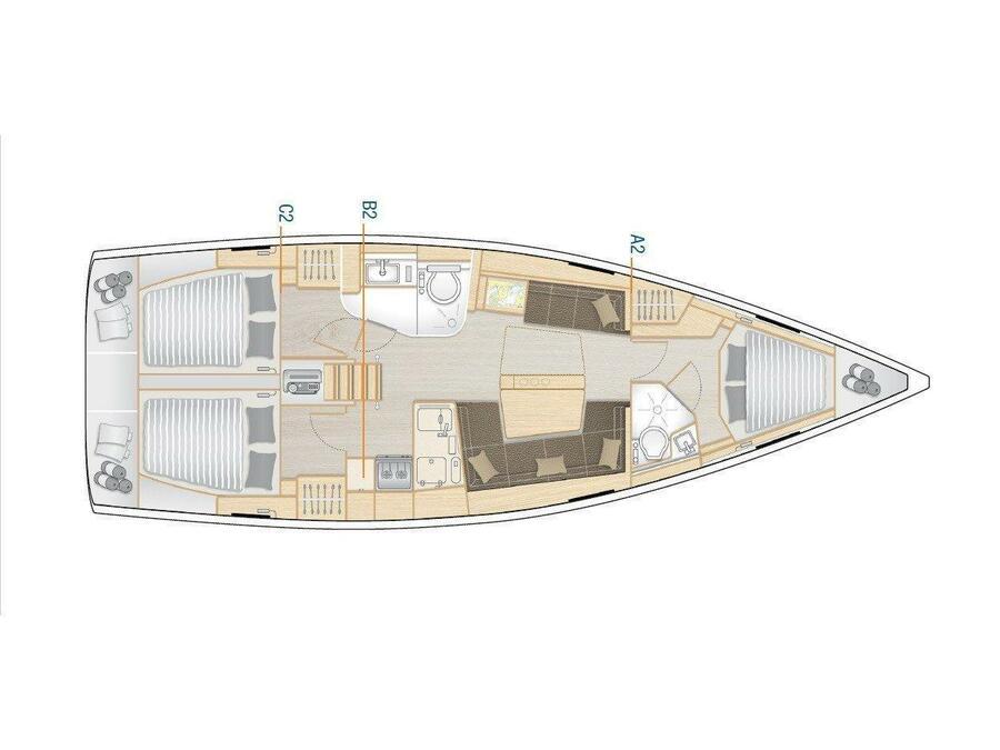 HANSE 418 BT (EVA) Plan image - 15