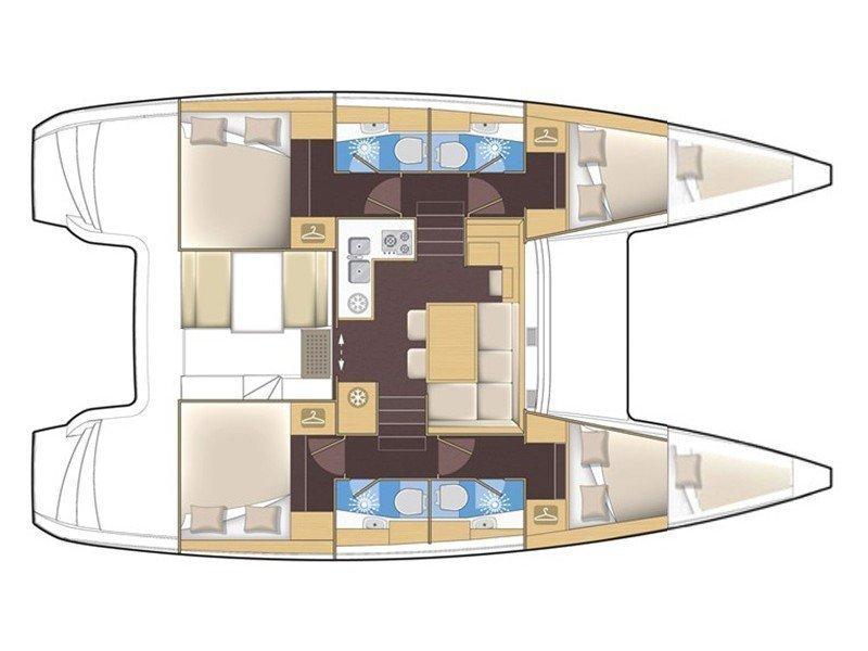 Lagoon 39 (VERTIGO) Plan image - 2