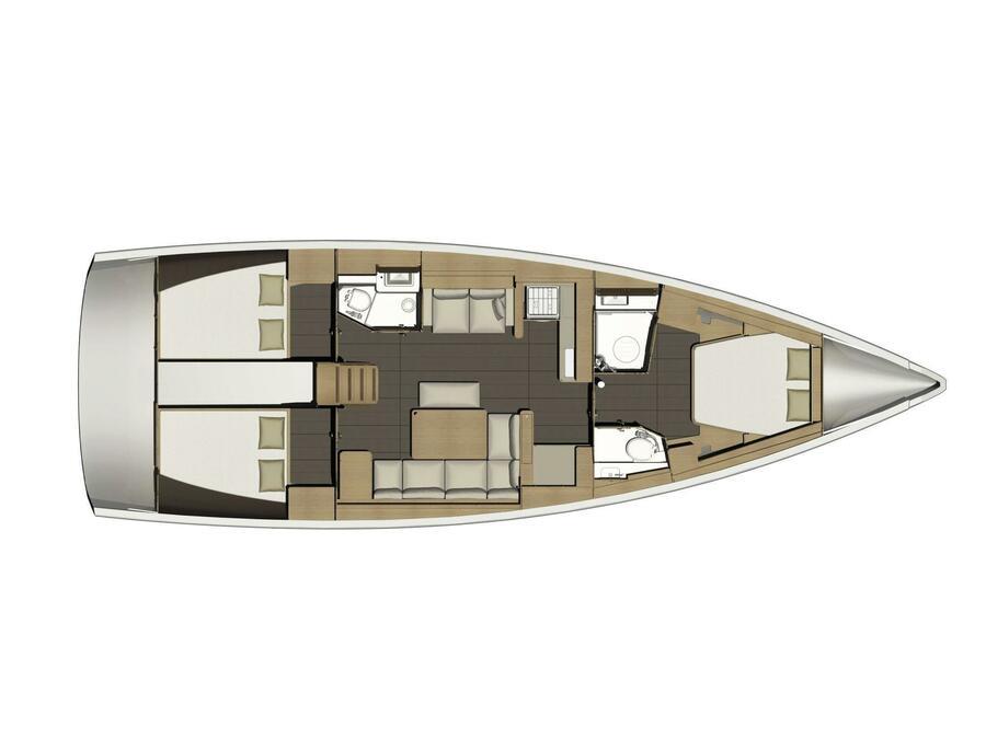 Dufour 460 Grand Large (Nikinda) Plan image - 2