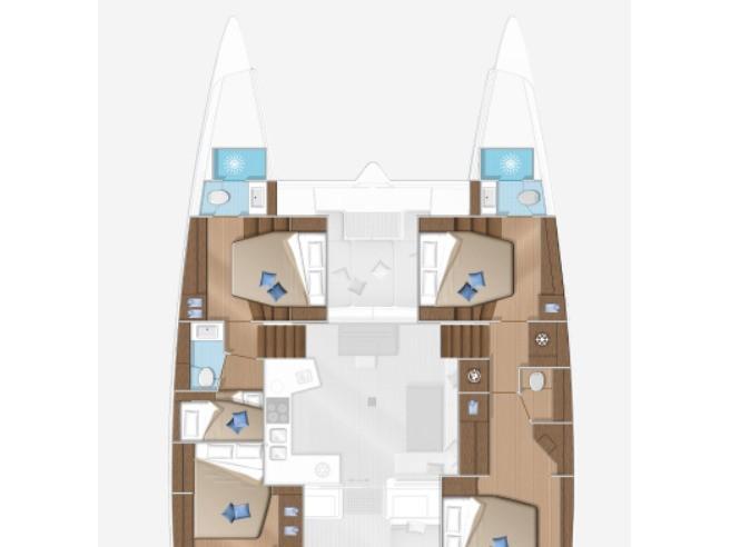 Lagoon 52F (Samoa (NEW 2021)) Plan image - 1