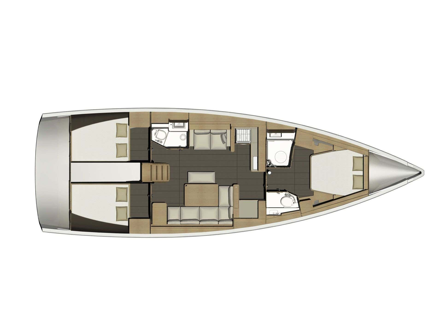 Dufour 460 Grand Large (Nikinda) Plan image - 3