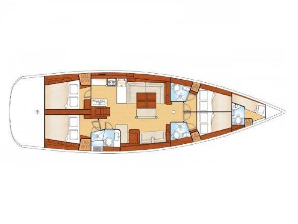 Oceanis 54 (Mambo) Plan image - 1