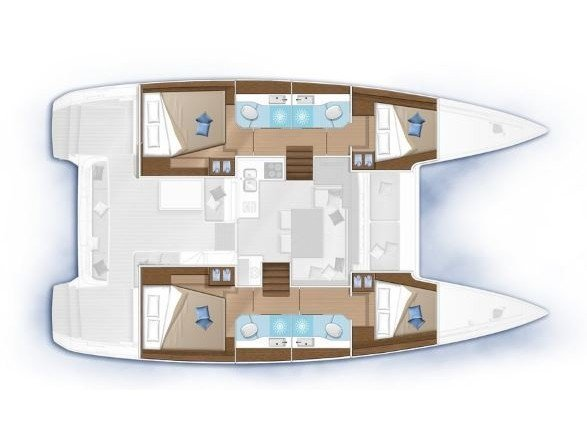 Lagoon 40 (Sail and Passion) Plan image - 3