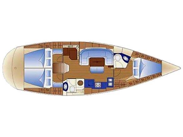 Bavaria 42 Cruiser (Balou) Plan image - 1
