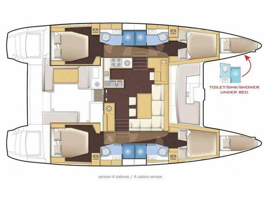 Lagoon 46  (Barchetta V) Plan image - 7