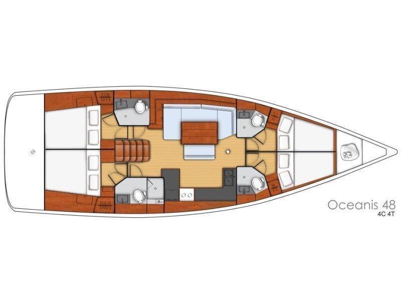 Oceanis 48  (FLOU) Plan image - 25